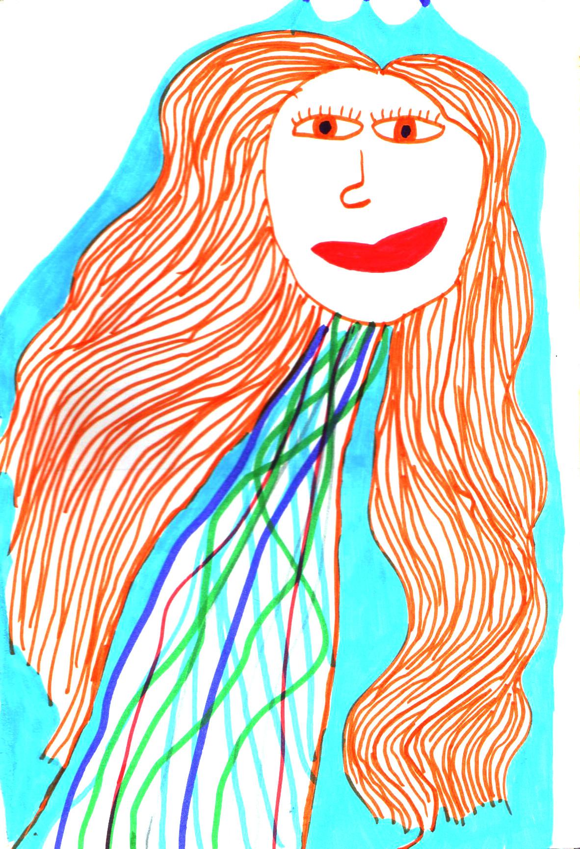 παιδική ζωγραφιά πριγκίπισσα