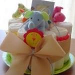 To diaper cake της Νεφέλης και του μπεμπούλη!