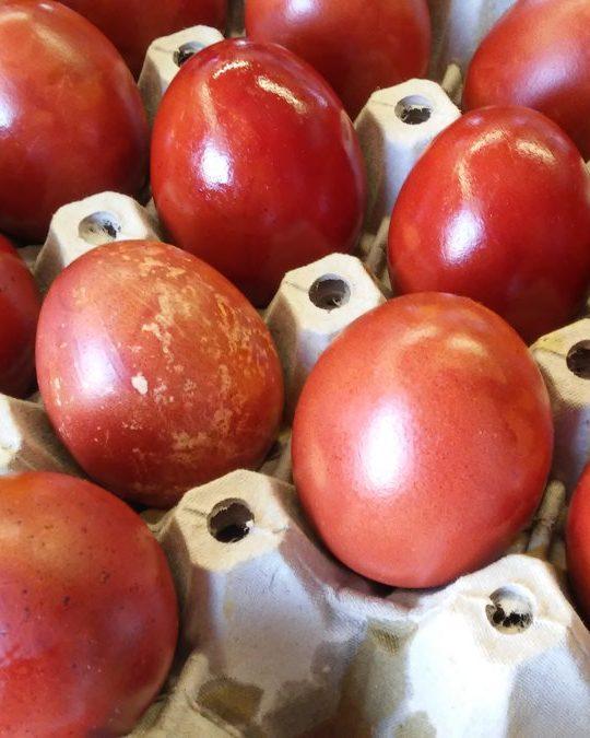 πώς βάφω αυγά με κρεμμύδια